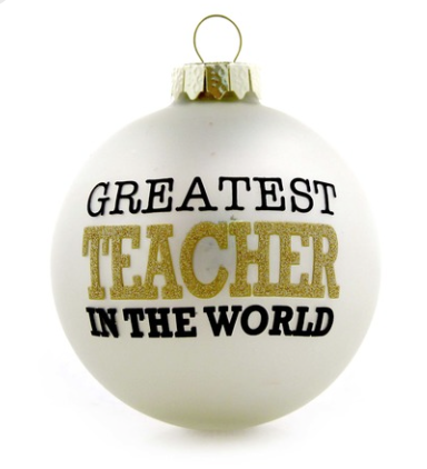 Greatest Teacher in the world ornament