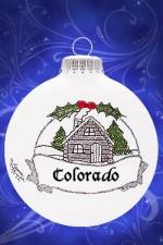 colorado cabin ornament