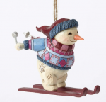 jim shore skiing snowman ornament