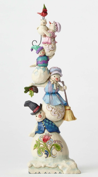 jim shore stacked snowman family figurine