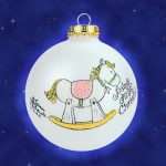 baby girls first christmas rocking horse christmas ornament
