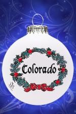 colorado wreath ornament