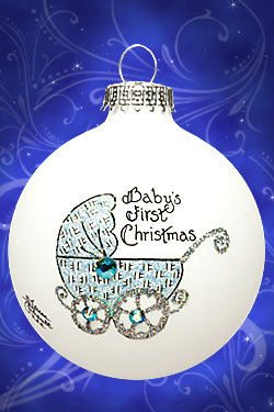 babes first christmas baby buggy ornament