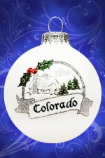 colorado cottage glass ornament