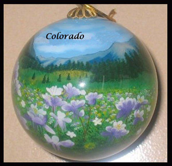 colorado columbine ornament