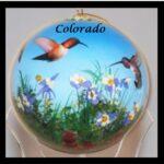 colorado hummingbird ornament