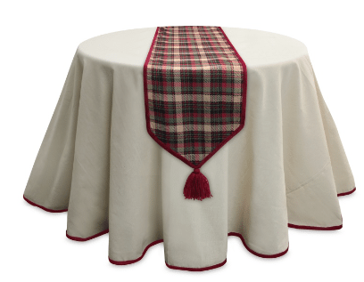 tbl008 plaid table runner