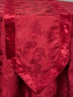 tbl066 red poinsettia table runner