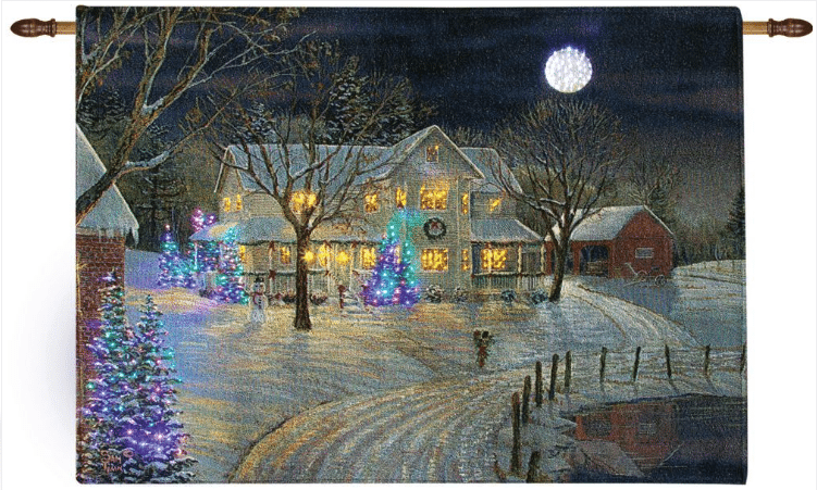 wh150 holiday night tapestry fiber optic