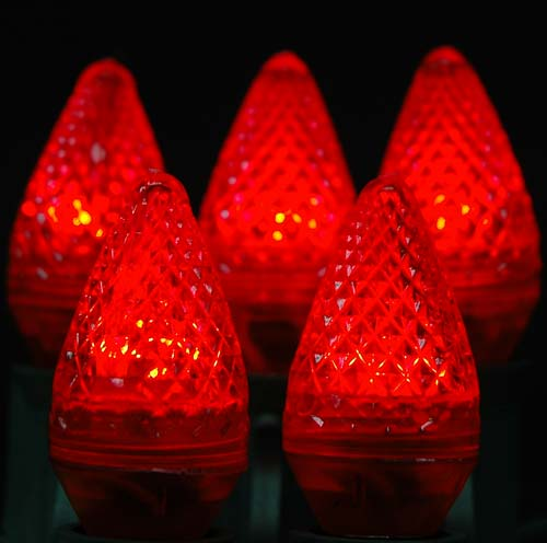 C7 Led Faceted Replacement Light Bulbs Choose From 6