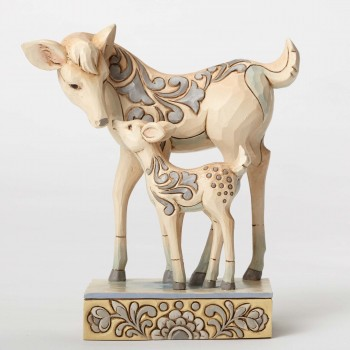 jim shore deerly devoted woodland doe and fawn