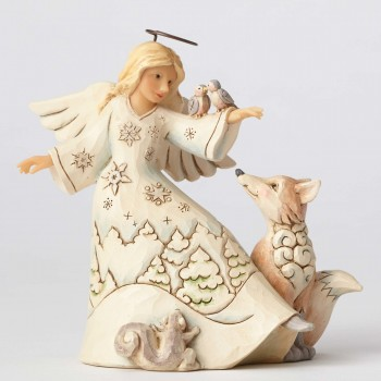 jim shore blessed be all creatures woodland angel