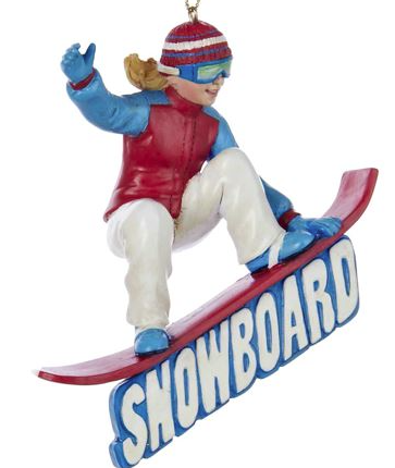 snowboarder ornament