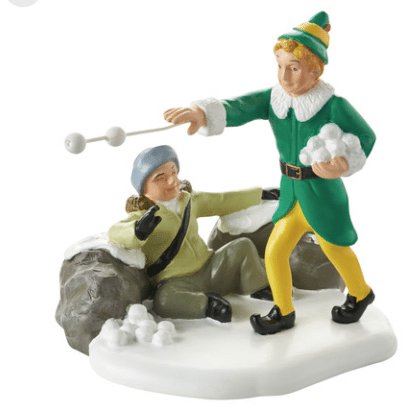 department 56 elf movie snowball fight