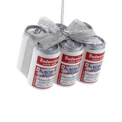 busweiser vintage 6 pack ornament