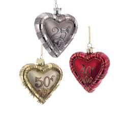 25th anniversary 40th anniversary 50th anniversary ornament