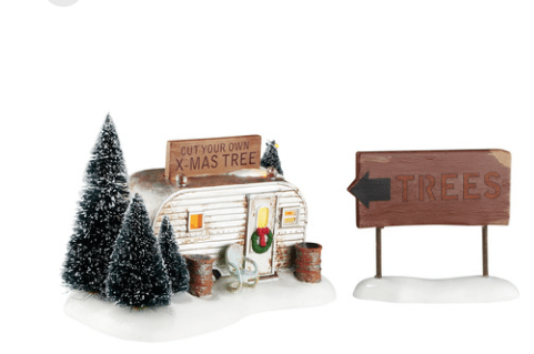 department 56 snow village griswold family buys tree