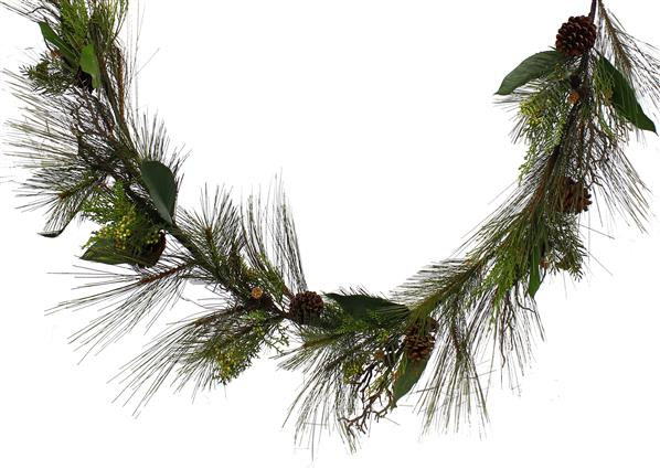 pine pepperberry pine cone garland