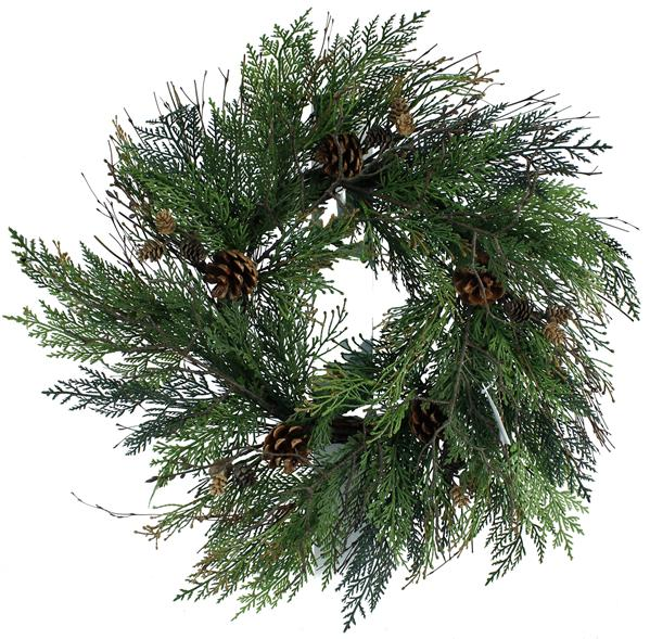 24 inch pine, twig, and pine cone wreath