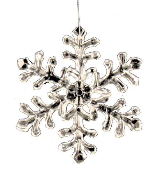 4 inch shiny snowflake ornament