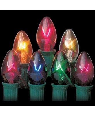 Traditional C7 Transpa Le Light Bulb Box Of 25 Replacement Bulbs Choose From 6 Diffe Colors