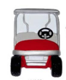 golf cart ornament
