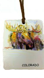 odm301 colorado moose ornament and magnet
