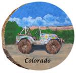 omi692 colorado happy jeep ornament