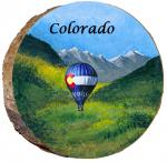 omi880 colorado hot air balloon wooden ornament