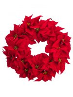 wrd105 majestic velvet poinsettia wreath