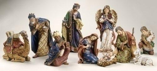 10 piece nativity set ornate nativity