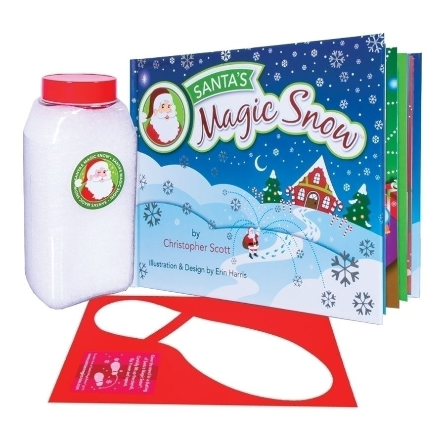 magic snow with book