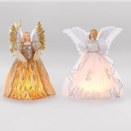 gold and ivory lit tree toppers