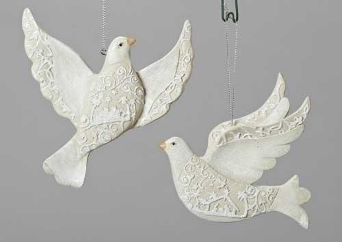 papercut dove ornaments