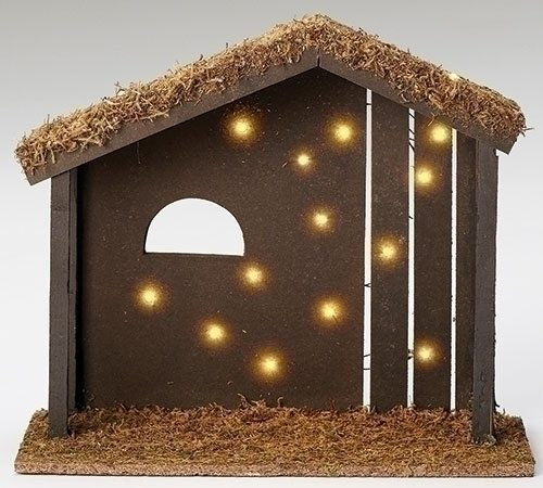 fontanini stable led lit for 7.5 inch figurines