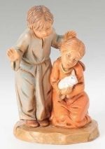 5 inch fontanini figurine adah and jason children
