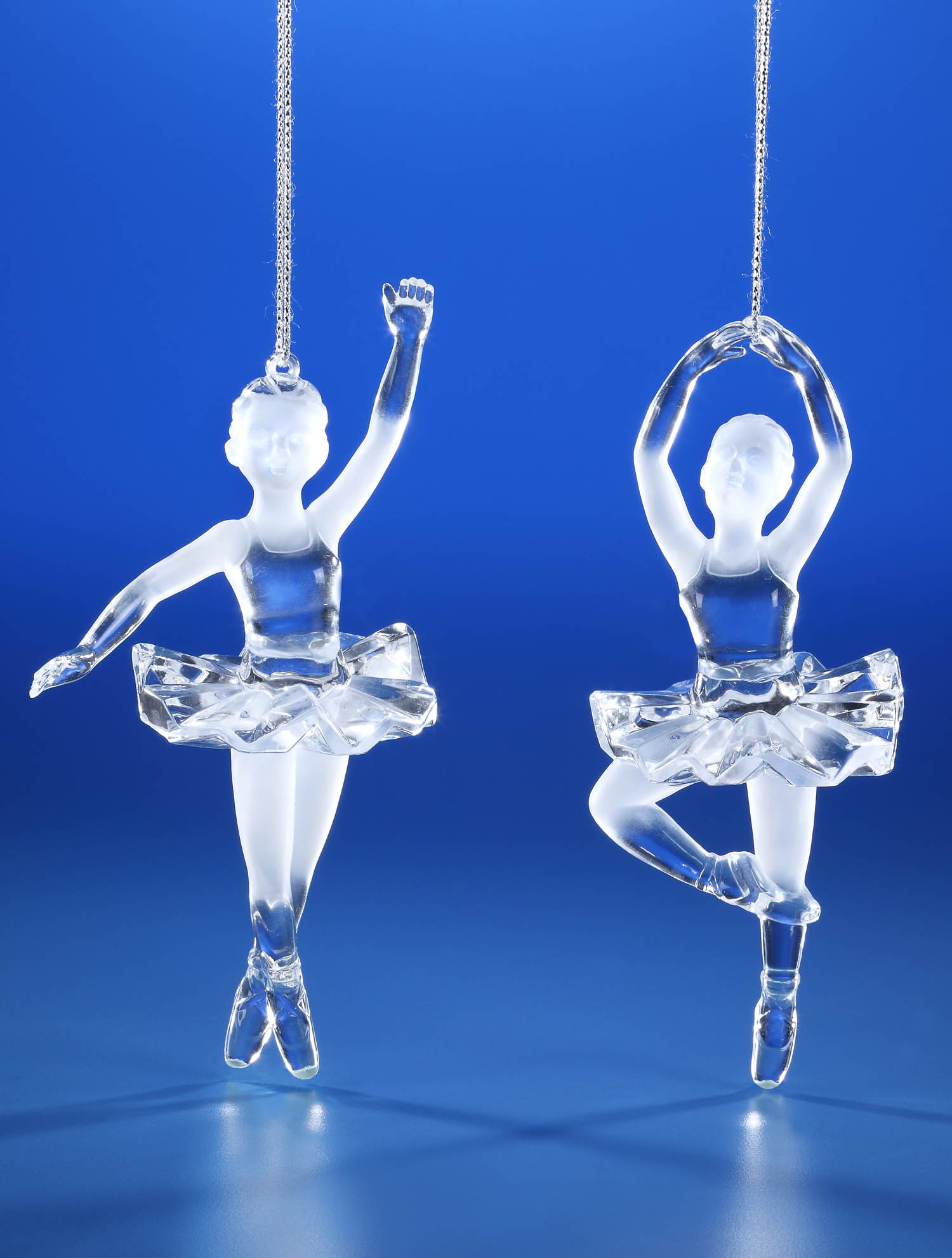 Clear Acrylic Ballerina Ornament