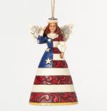 jim shore patriotic angel ornament