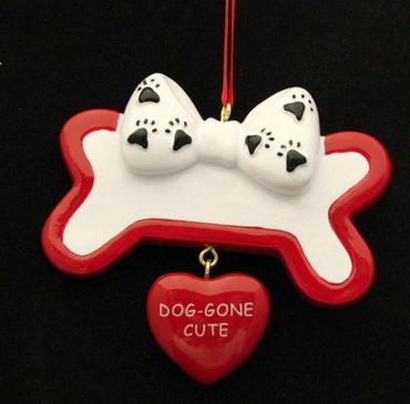 Dog gone cute bone ornament christmas store for Dog bone ornaments craft