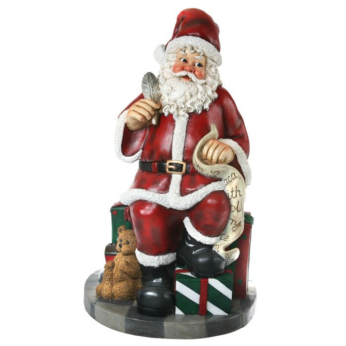 indoor outdoor santa with checklist decoration