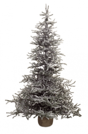 4 Foot Snowy Pine Pre-Lit LED Artificial Christmas Tree ...