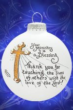 oh044 ministry is a blessing ornament