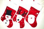 stg042 santa reindeer snowman stockings
