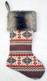 stg207 faux fur stocking