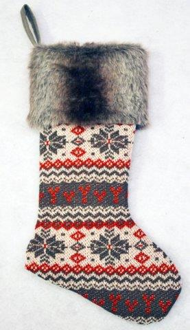 stg207 faux fur stocking
