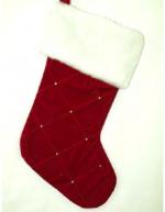 stg225 burgundy velvet stocking