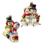 vintage snowmen ornaments