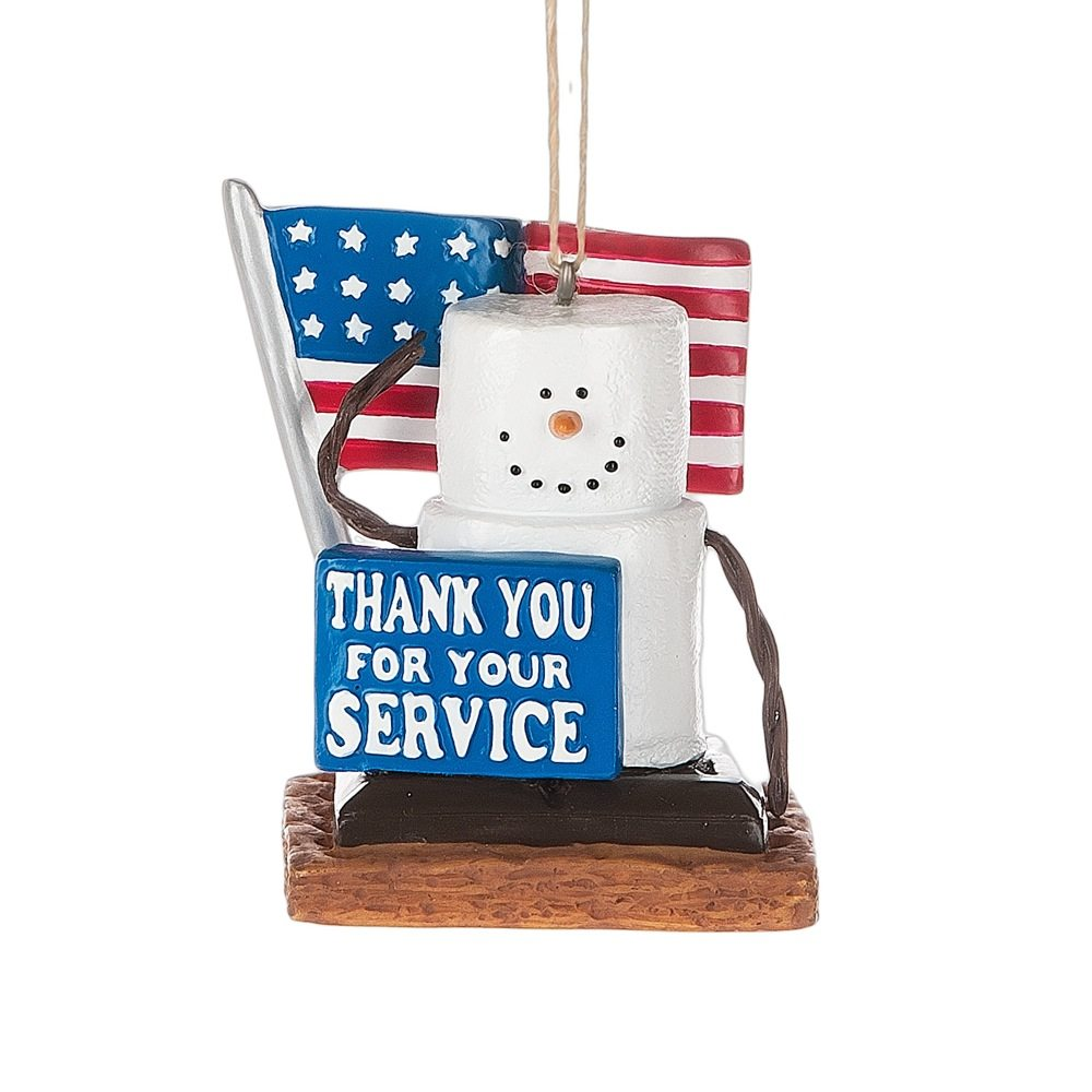 thank you for your service military s'mores ornament