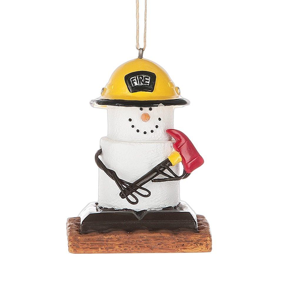 fireman s'mores ornament