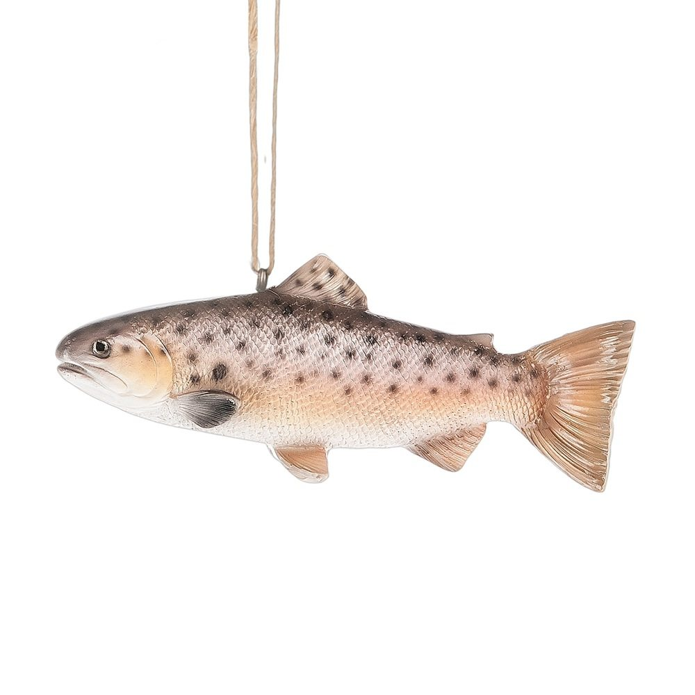 brown trout ornament